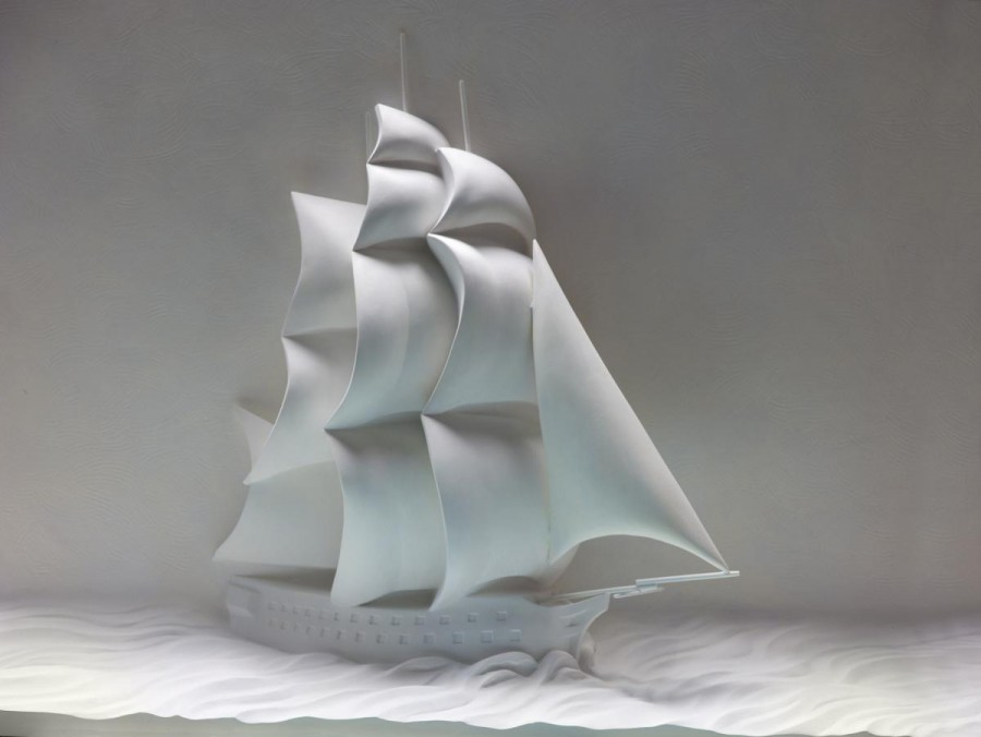 Vanguard Heritage Ship Sculpture by Christopher Smith