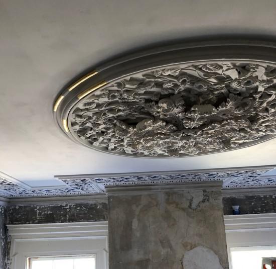 medallion, morning glory, plaster, ornament, architectural, Glen Mary