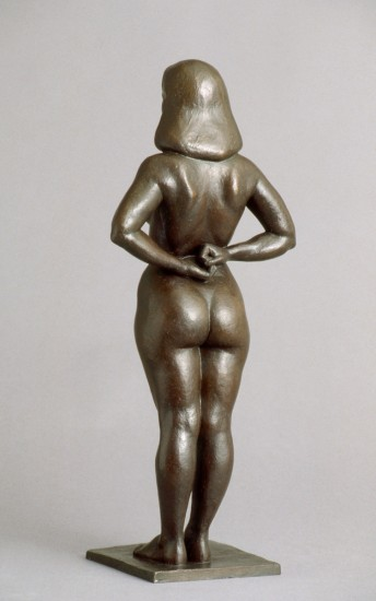 standing naked woman bronze sculpture by Christopher Smith